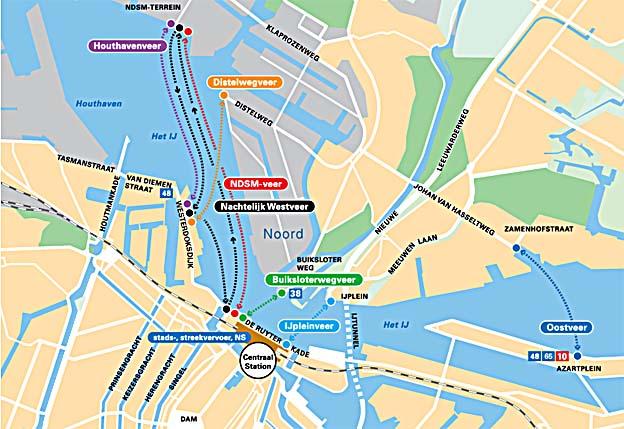 Pont naar Amsterdam Noord