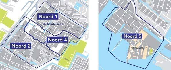 Plattegrond Noord parkeervergunningsgebieden